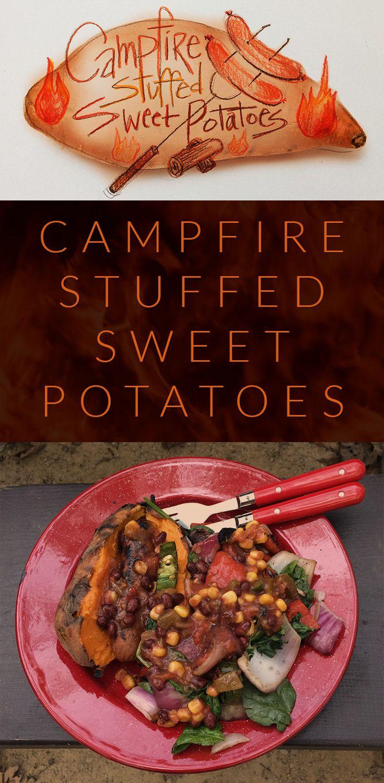 Campfire Stuffed Sweet Potato