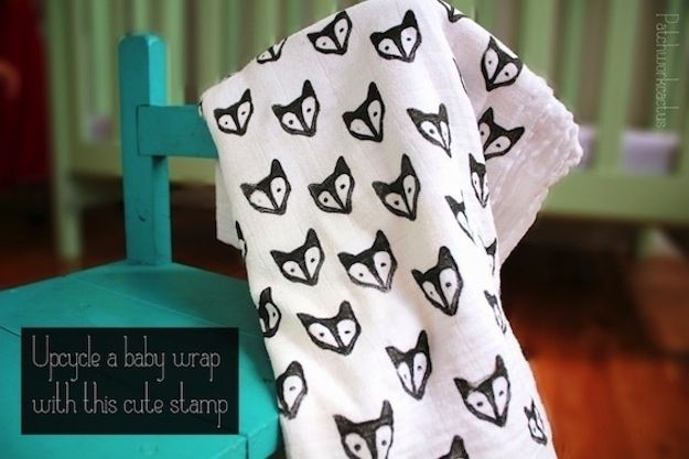 Stamped Fox Blanket | 29 Easy And Adorable Things To Make For Babies