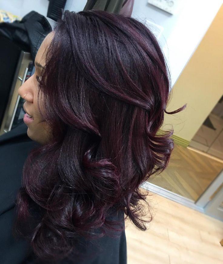 eggplant hair ideas