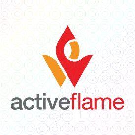 Exclusive Customizable Logo For Sale: Active Flame | StockLogos.com https://stocklogos.com/logo/active-flame