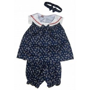 Floral Toddler Dress Set with Pants and Headband