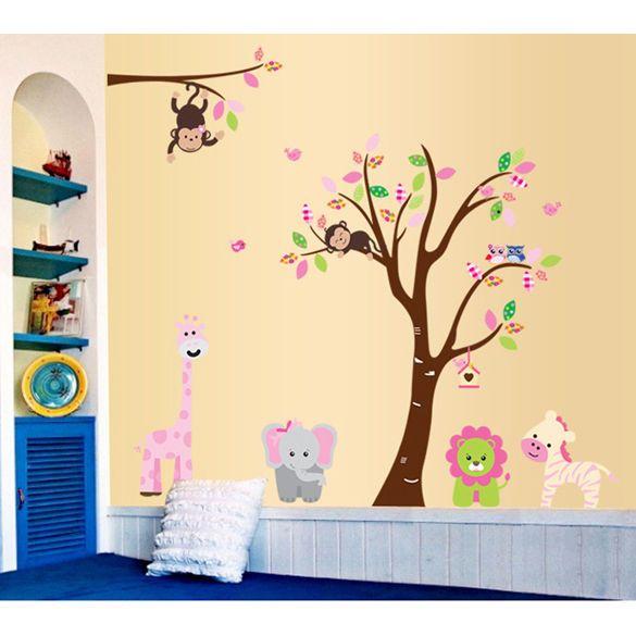 gib rbol de mono extrable mural de vinilo calcomana de pegatinas de pared para nios