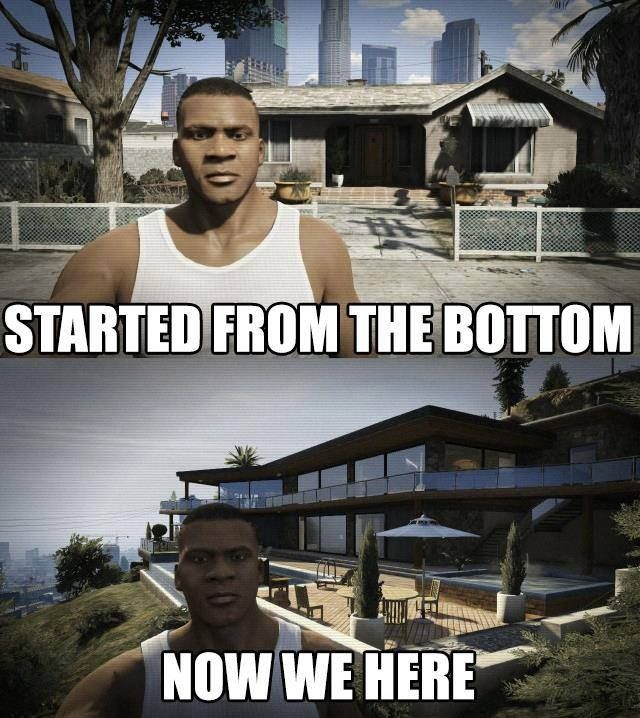 GTA V's Franklin is their Drake - Started from the bottom, now we here!