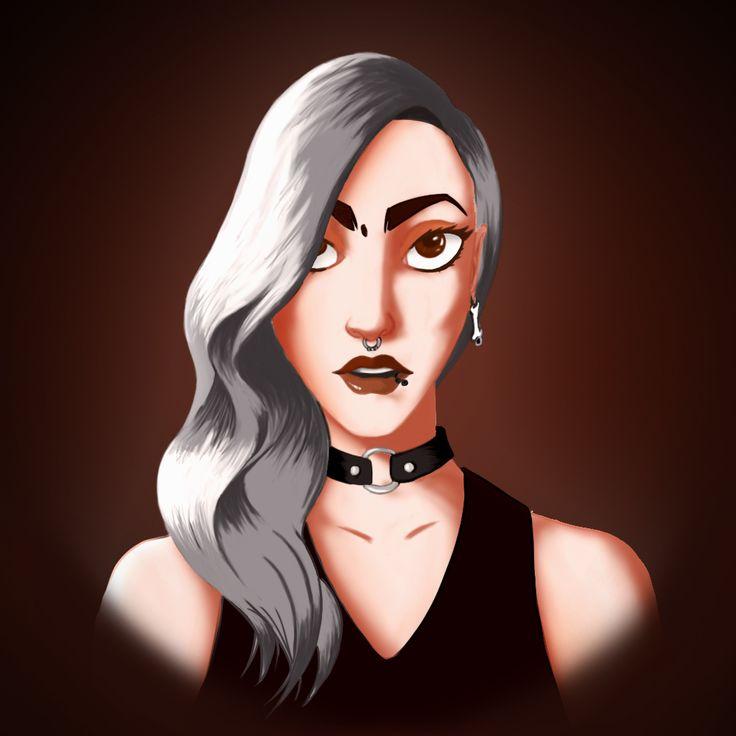 Retrato mujer  Ilustración digital