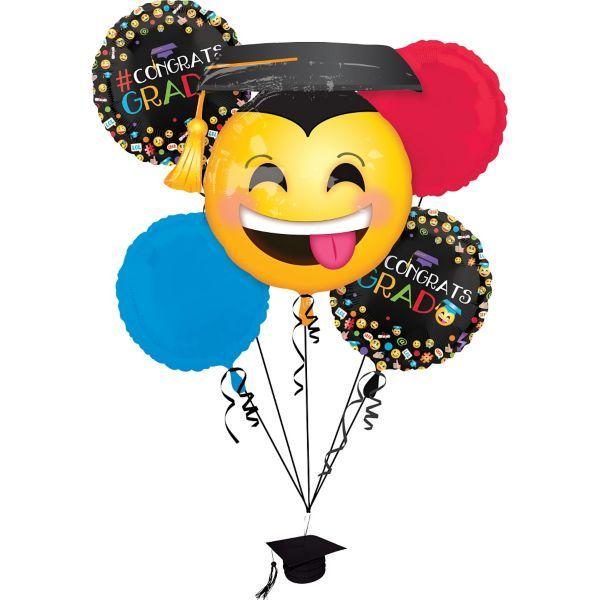 Smiley Graduation Balloon Bouquet 6pc