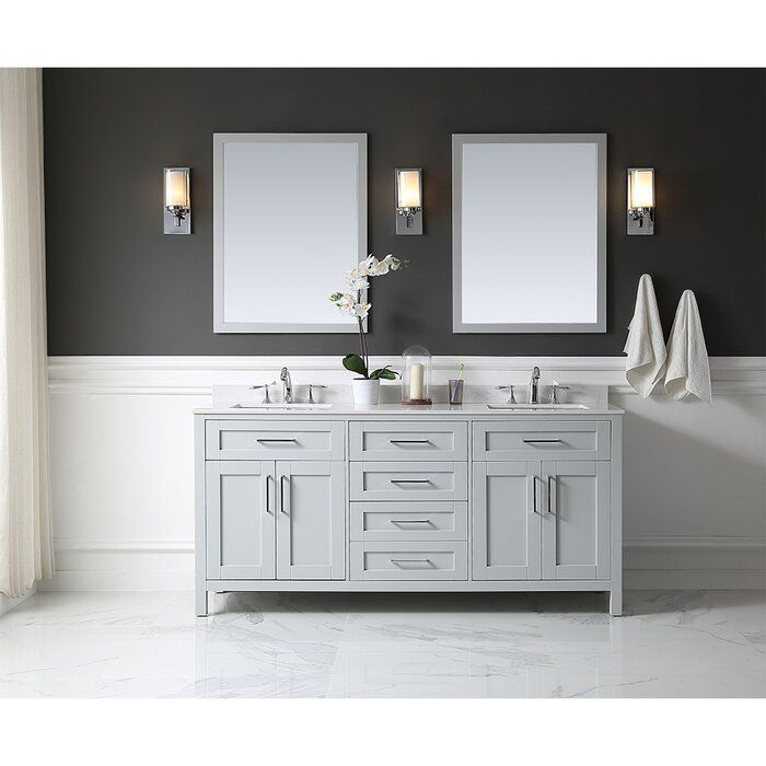 Tahoe 73 Double Bathroom Vanity Set With Mirror Double Vanity Bathroom Bathroom Vanity Single Bathroom Vanity