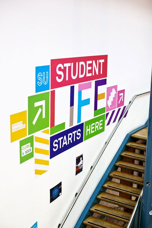 Student Life :: Col­or­ful project designed by Dublin-based stu­dio Aad for the DCU Student Union