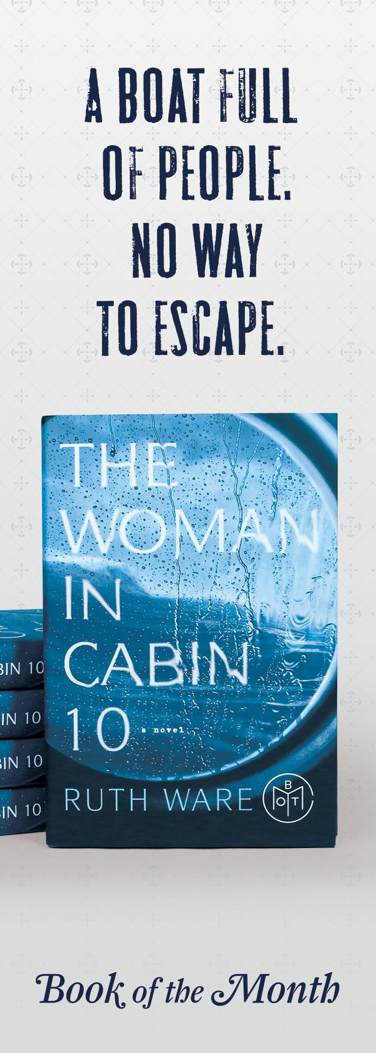 """""""As a huge Agatha Christie fan, I adored this book: A boat full of people. No way to escape. And a narrator that you might be able to trust."""""""
