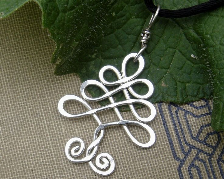 Celtic Tree Sterling Silver Pendant -Christmas Tree Wire Necklace -  $ 18, by   nicholasandfelice via Etsy.