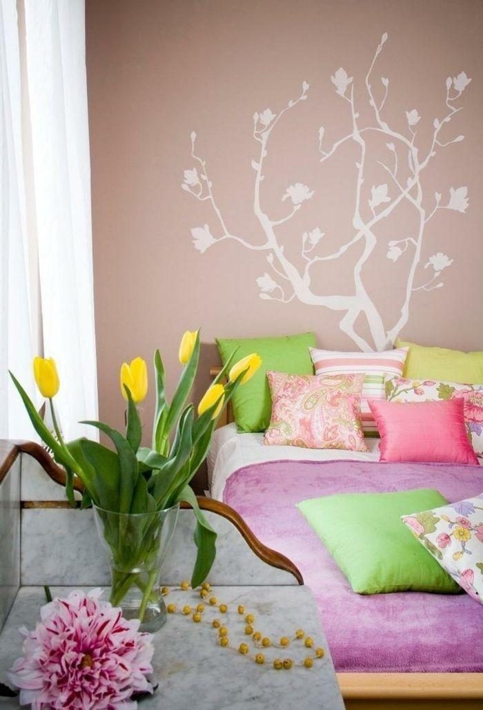 Innendesign Ideen Frische Farben Frühlingsstimmung Tulpen