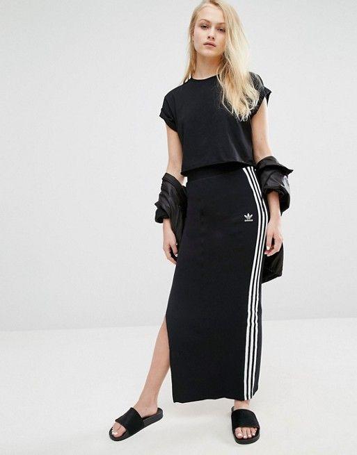 Adidas | Adidas Maxi Skirt With 3 Stripes