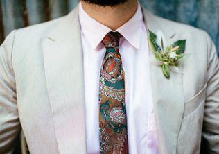 Tom's boutonniere Photo by Ryan Mastro