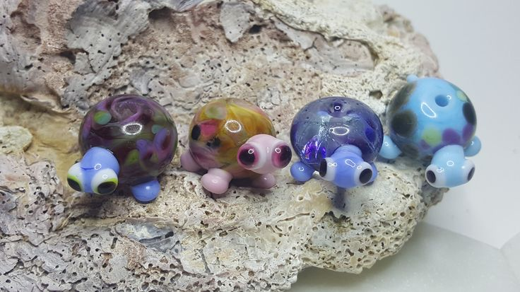 Excited to share the latest addition to my #etsy shop: Cute little glass tortoise/turtle lampwork beads, handcrafted tortoise bead. DIY bead with pretty patterned body 4 to choose from http://etsy.me/2jXTEVC #supplies #animal #jewelrymaking #glass #lampworkglass #glassbeads #turt