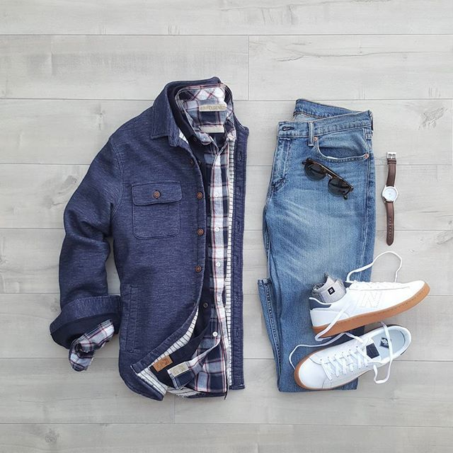 Three times a charm. Since the weather here progressively warms up, it's wiser to layer up and remove as needed. ▶️Which do you prefer, layers or a coat?? #silverfoxcollective _______ 1:@niftygenius Truman Square Pocket plaid 2:@niftygenius Truman Outdoor shirt 3: @niftygenius CPO Jacket _________ Denim:@levis 511 Slim Sunglasses:@remotulliani Watch:@telestowatches Sneakers:@newbalance 791+ @jcrewmens Socks:@richerpoorer Everyday crew(available at Nifty-genius.com Use Code SFNG20) • • • •...