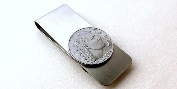 Italian coin money clip  Men's wallet  Men's
