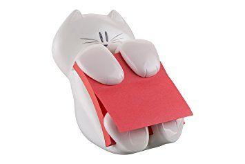 Post-it Cat Design Z-Notes Dispenser - White