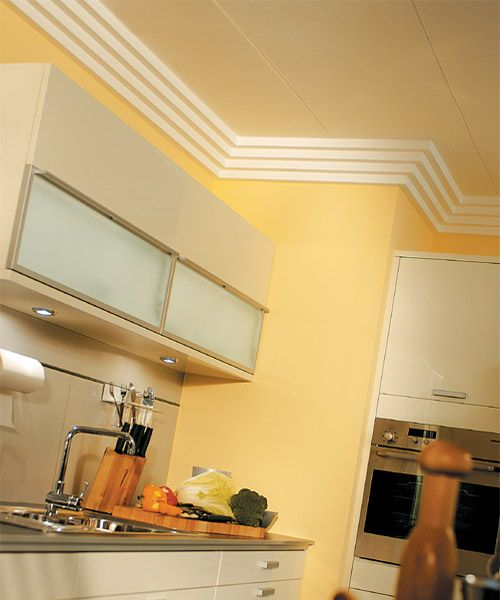 Crown Molding Shown Installed In