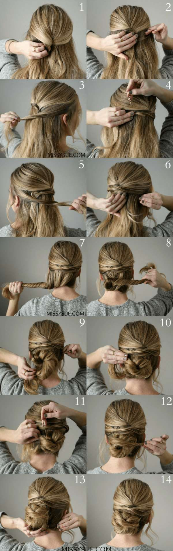 14 instructions for simple hairstyles