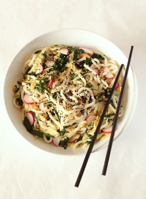 Wild Garlic and Sesame Noodle Salad @ Recipes From A Pantry