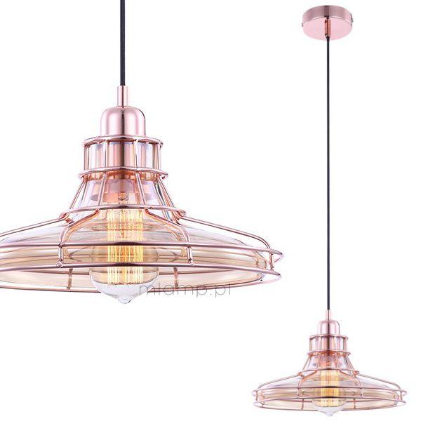 LAMPA wisząca DONNA 15148 Globo metalowa OPRAWA industrialny ZWIS druciana miedziana