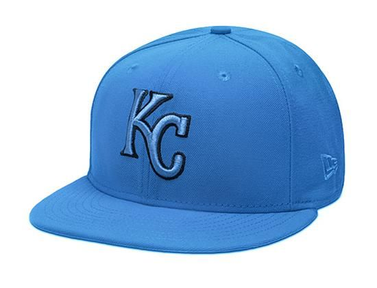 Custom Kansas City Royals Snapshot Blue 59Fifty Fitted Baseball Cap by NEW ERA x MLB