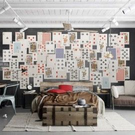 Playing Cards Wall Mural
