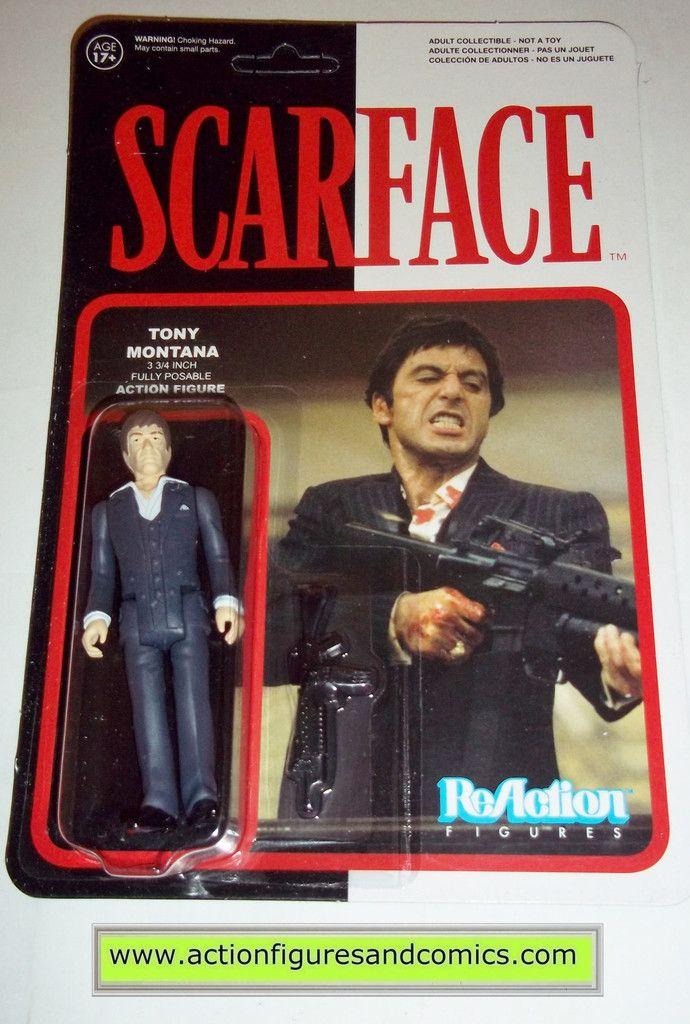 Reaction figures SCARFACE TONY MONTANA al pachino funko toys action moc mip mib