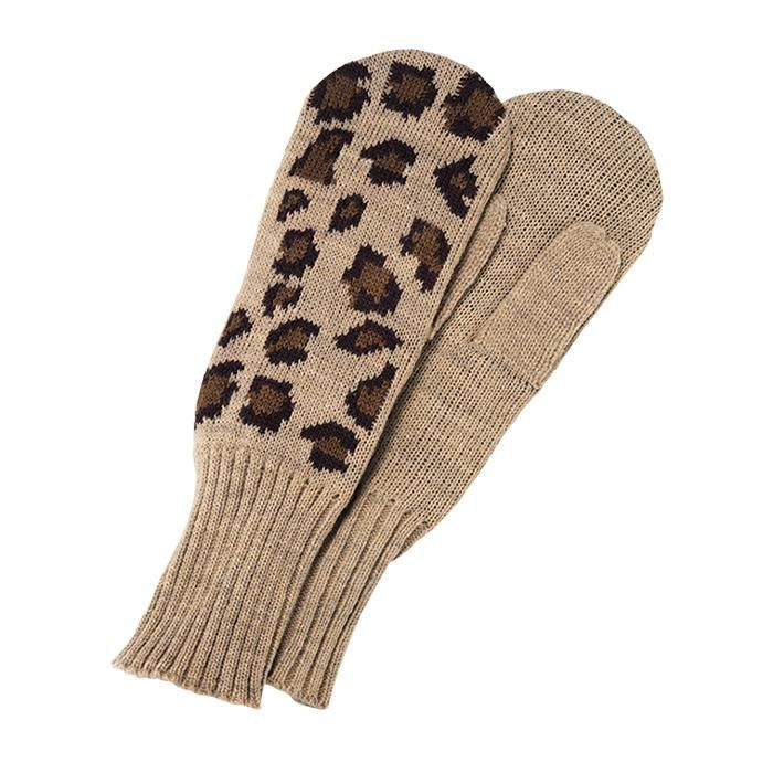 these ribbed trim mittens fit snuggly and keep your hand warm in a fun leopard printstay cozy with the plush animal print socks and novelty printed cozy