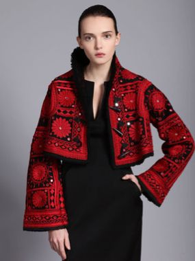 Phulkari Jacket by Alexander McQueen Indian textile on a East Asian cut by a Western designer.