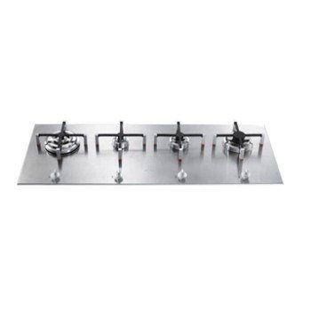 Plaque de cuisson gaz 4 foyers, inox, SMEG PX140 | Leroy Merlin
