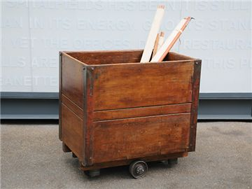 Small Vintage Box Cart.  Use for toy box www.elemental.co.uk