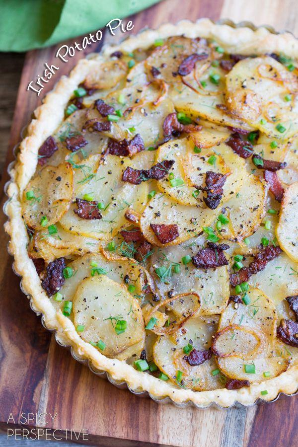 Irish Potato Pie #irish #stpaddysday #potatoes