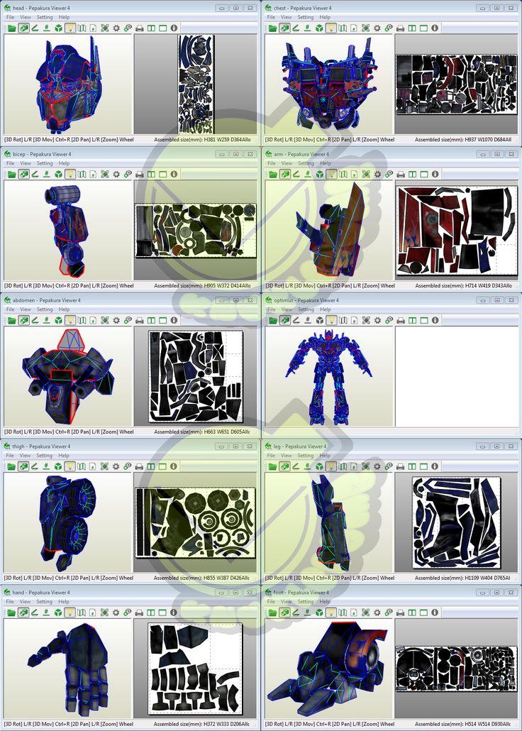 Optimus Prime Costume Template / Pattern Pepakura 3D Model