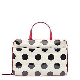 Kate: Pavillion Large, Polka Dots, Large Manuela, Le Pavillion, Cosmetics Bags, Design Cosmetics, Makeup Bags, Kate Spade, Beautiful Products