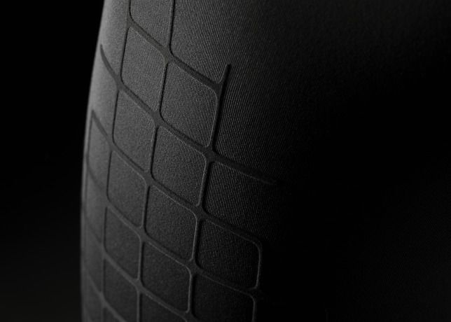 Fabric, textile, woven, print, detail, black, rubber, emboss, black