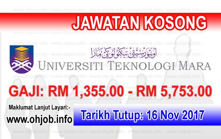 Jawatan Kosong UiTM - Universiti Teknologi MARA (16 ...