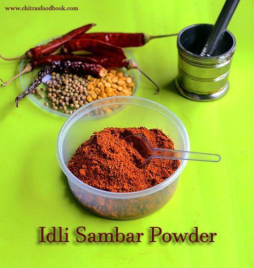Idli sambar powder recipe