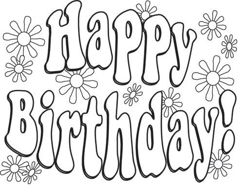Good Happy Birthday Stencil Printable