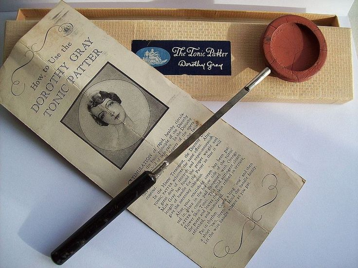 Antique Dorothy Gray FACE TONIC PATTER w BOX Vintage Makeup Vanity Compact