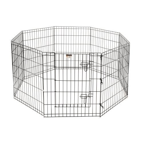 pet trex premium quality 30 exercise playpen for dogs eight 24 x 30 high panels with - Puppy Gates
