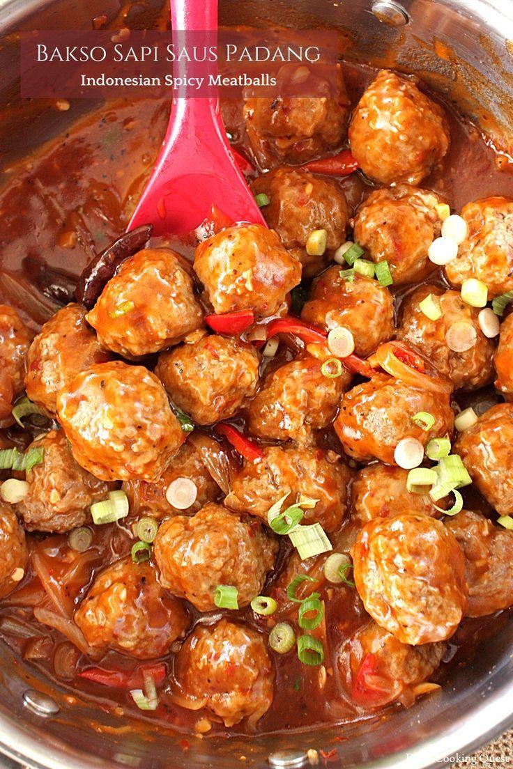 Bakso Sapi Saus Padang Indonesian Spicy Meatballs Resep Masakan Indonesia Bakso Resep Masakan Korea