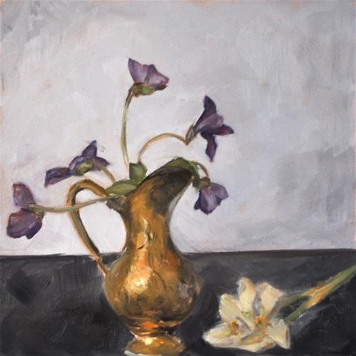Napping violets original fine art for sale jamie for Fine art paintings for sale online