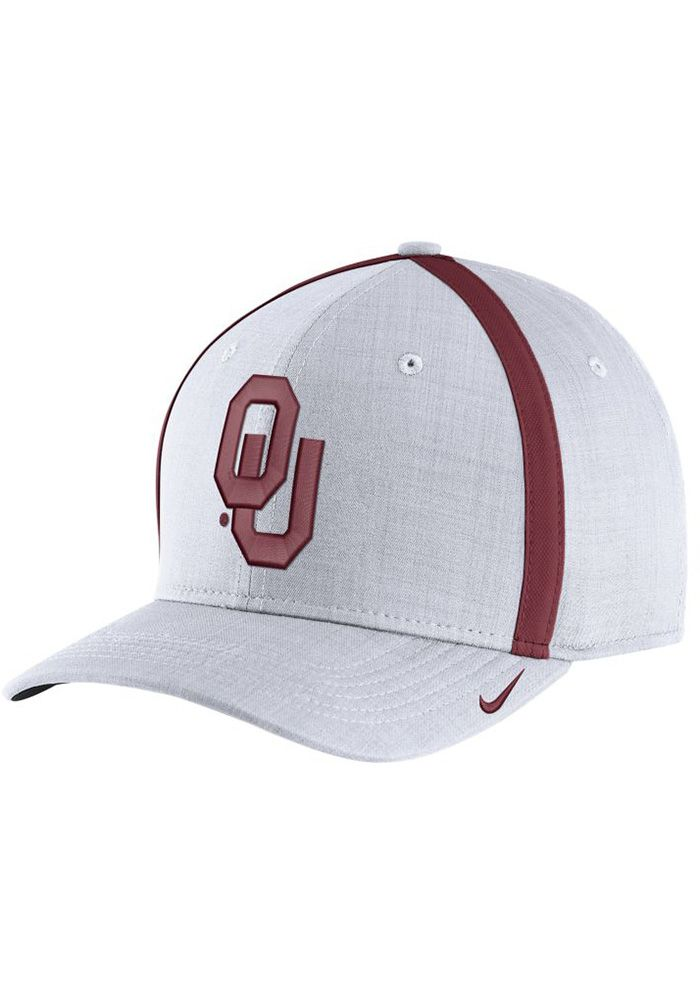 3fe4e2e336fbf 12518788-1 Nike Oklahoma Sooners Mens White 2017 SIDELINE Adjustable ...
