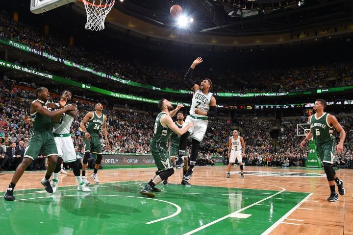 Who scored the winning point on a free throw in the #Bucks vs #Celtics game on Feb 9th 2016? www.nbabasketballquizgame.com