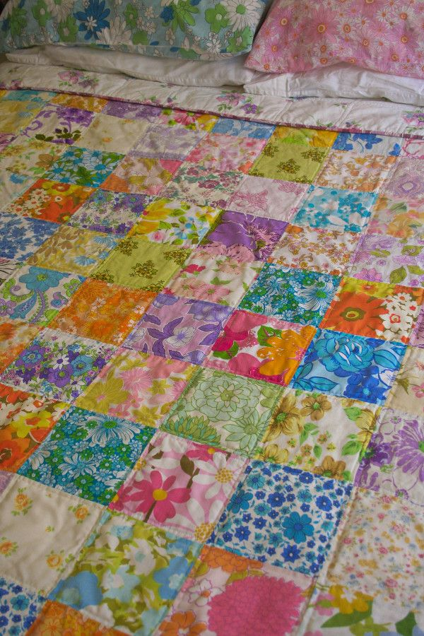 Look What I Made: Vintage Sheet Quilt No.5