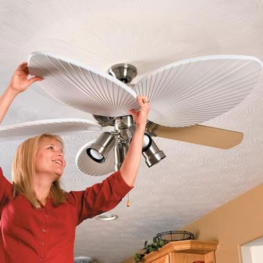 cute way to dress up ugly ceiling fans !