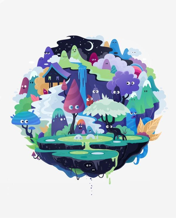 Spheres Illustrations by zutto, Russian illustrator