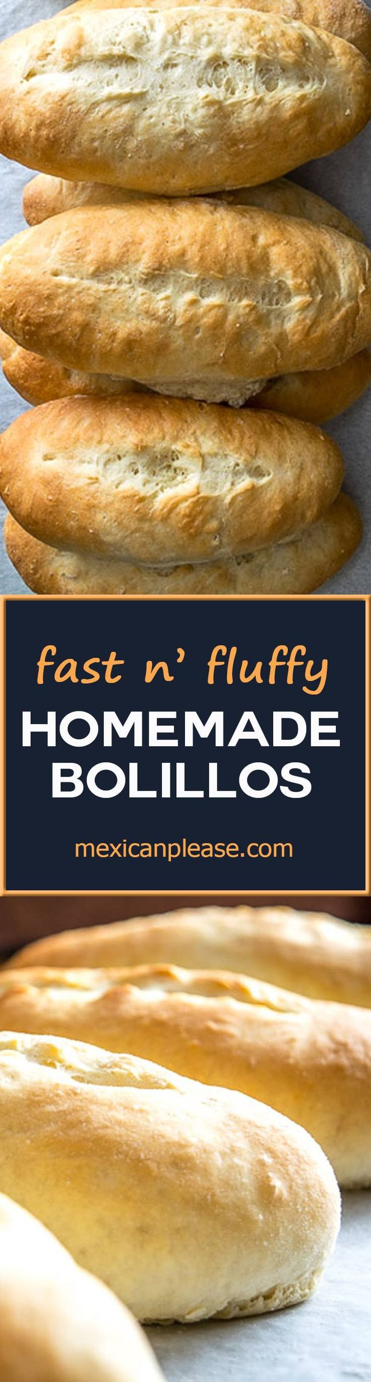 Don't have time to sit around and watch dough rise? This easy bolillos recipe uses extra yeast for a quick batch of light, fluffy rolls that are perfect for sandwiches.  Round trip is less than an hour!  http://mexicanplease.com
