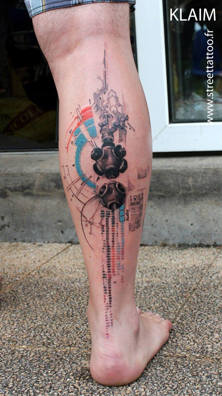 Veja toda a arte abstrata das tatuagens feitas pelo tatuador francês Klaim, do Street Tattoo. Veja tattoos abstratas e surreais.