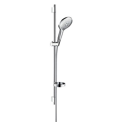 KES Shower Riser Rail, Stainless Steel Slide Bars with Handheld Shower Bracket Height and Angle Adjustable, Brushed, F204-2